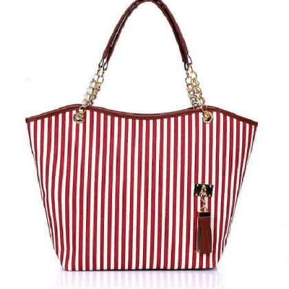 Stripes design pattern canvas red w..