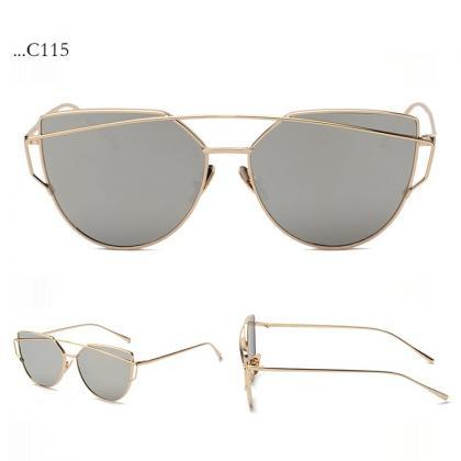 Gray Lenses Cat Eye Sunglasses Wome..