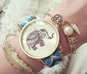 Friendship bracelet elephant beach summer watch