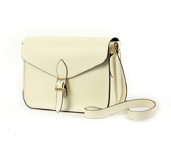 Messenger Shoulder white PU Leather Woman Handbag
