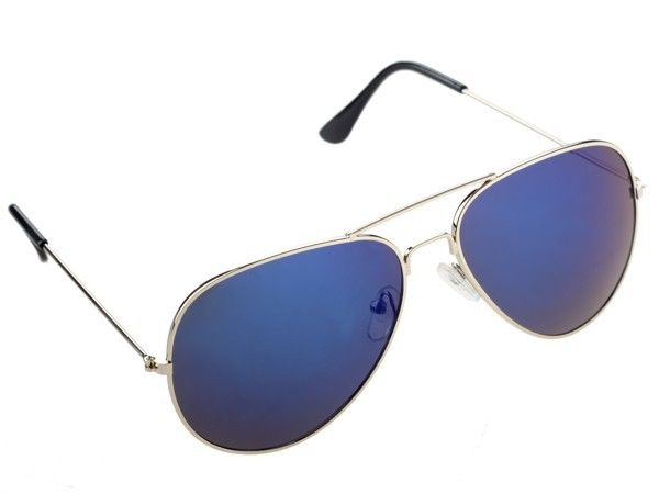 Pilot fashion summer sun blue lenses protector unisex sunglasses