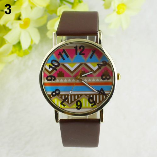 Colorful festival party brown unisex watch