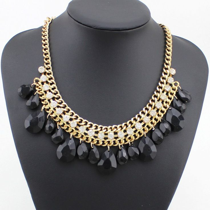 Wedding special evening dress black fashion necklace on luulla for Costume jewelry for evening gowns