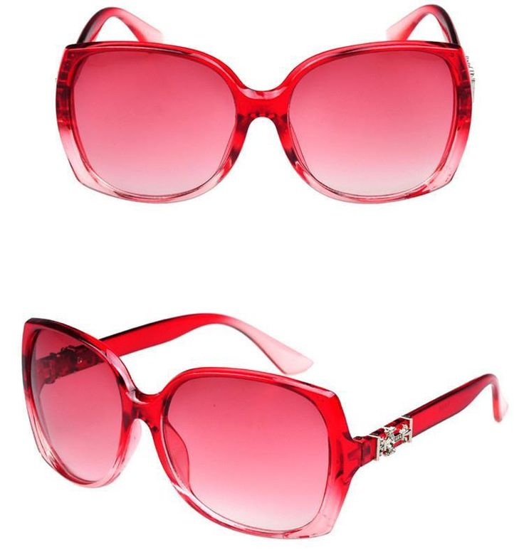 Retro vintage party red frame summer unisex sunglasses