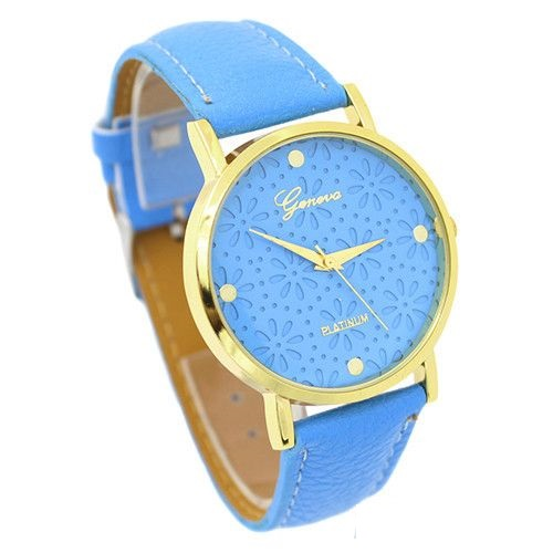 Cute Floral Teen Girl Sky Blue Party Watch