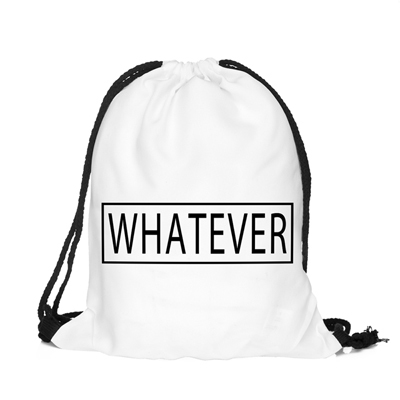 Back To School Whatever Cool Pattern Funny Design Drawstring Bag ...