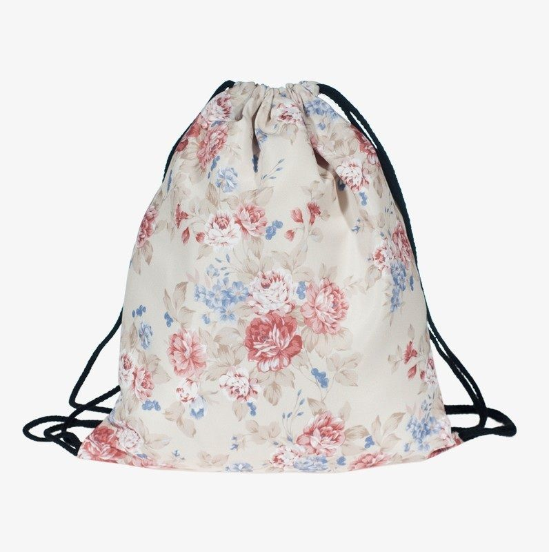 Flowers Casual Fun School Girl Teenage Drawstring Bag Woman Softback Backpack