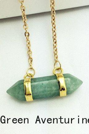 Special gift green aventurine stone pendant woman necklace