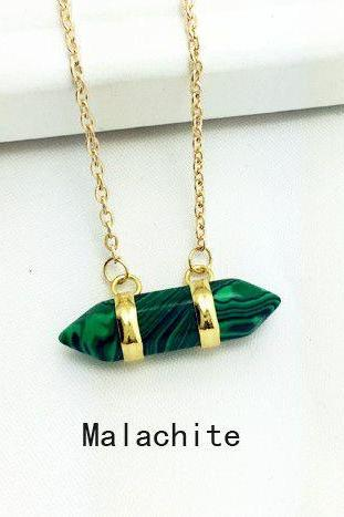 Special gift malachite stone pendant woman necklace