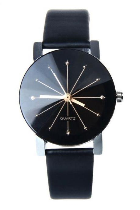 Dress unisex black one color luxury fashion watch