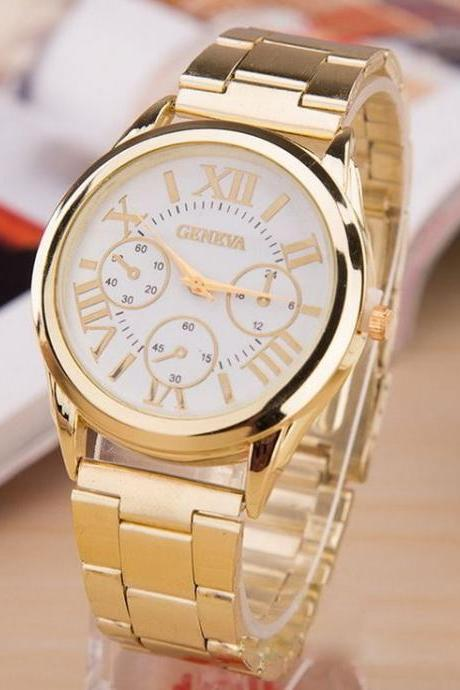 Dress unisex steel classy fashion white watch