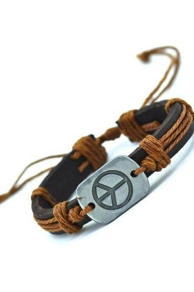 Hippie fashion festival vintage unisex orange bracelet