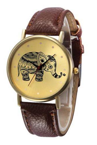Pu leather band fashion teen unisex brown watch