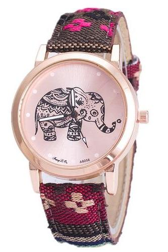 Bohemian music colorful hippie festival fashion elephant watch