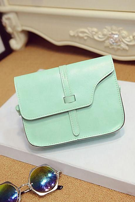 Messenger Shoulder Green Fashion Long Shoulder bag PU Leather Woman Handbag