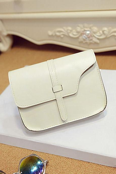 Messenger Shoulder White Fashion Long Shoulder bag PU Leather Woman Handbag