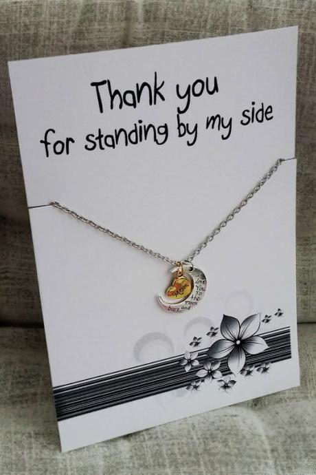 Thank YouLove you Pendant Woman Fashion Gold-Silver Toned Chain Girl Necklace