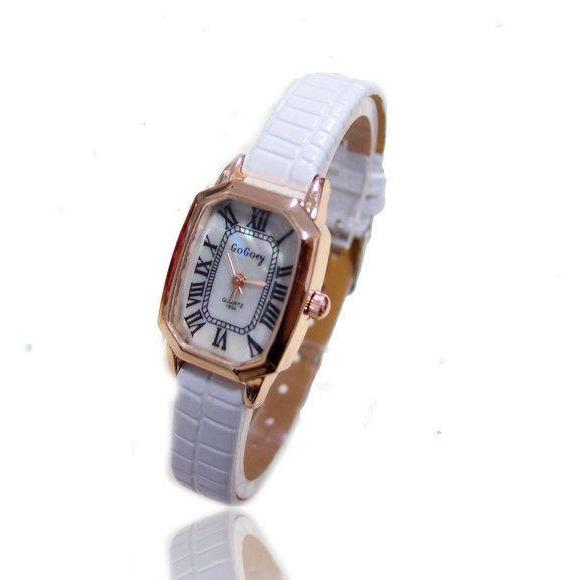 Thin belt leather elegant evening woman watch