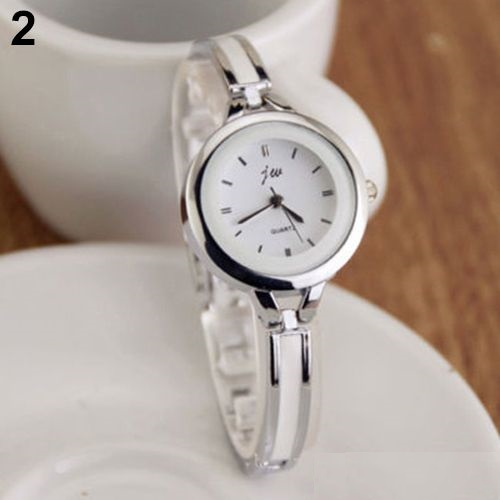 Lady fashion dress silver thin strap woman watch