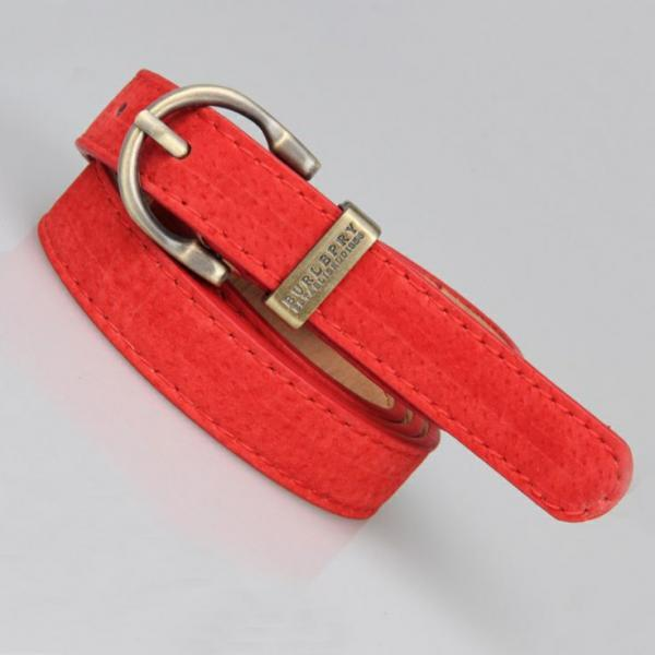 Leather fashion round red buckle woman belt