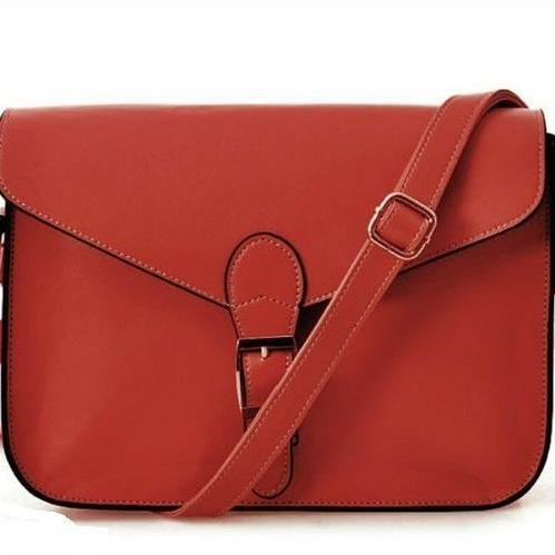 Messenger Shoulder PU red Leather Woman Handbag