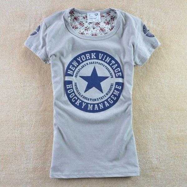 Gray student party Shirt Tee Girl Top