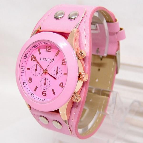 Casual School pink Girl Trendy Watch