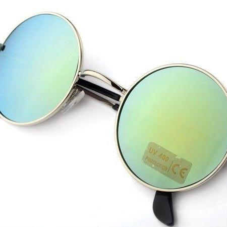 Fashion round lenses girl sunglasses