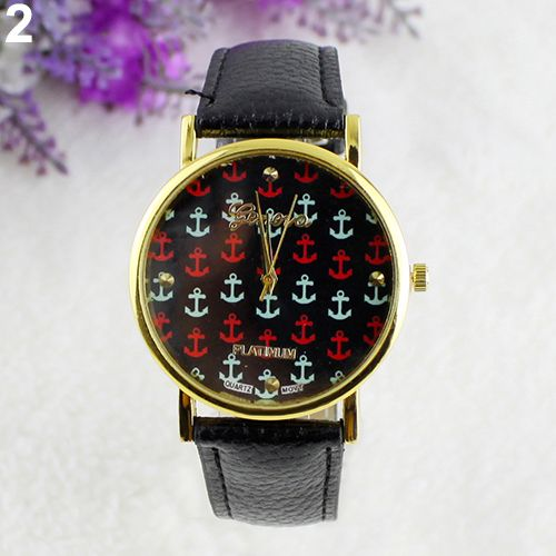 Anchor party teen casual girl black watch