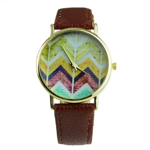 Hippie festival music brown band party unisex watch