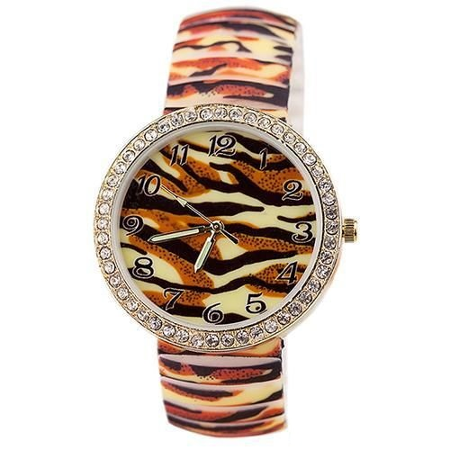 Leopard rubber fashion teenage girl watch