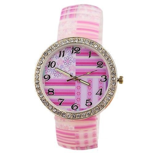 Pink rubber watch
