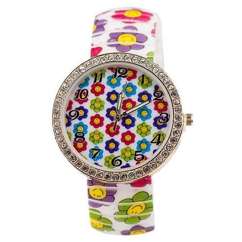 Smile flowers teen summer fashion girl watch