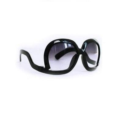 Leopard unique frame new black fashion sunglasses