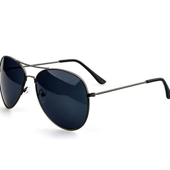 Pilot Aviator Black Lens party Sunglasses