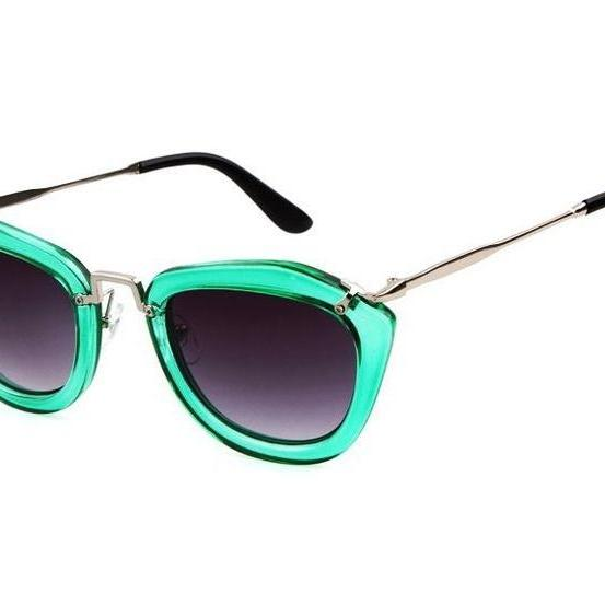 Fashion Retro Cat Eye Summer Green Accessory Sunglasses
