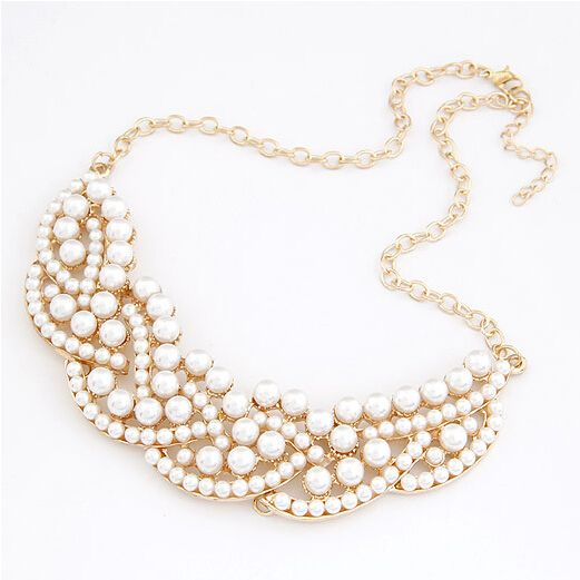 Wedding pearls imitation fashion elegant woman necklace