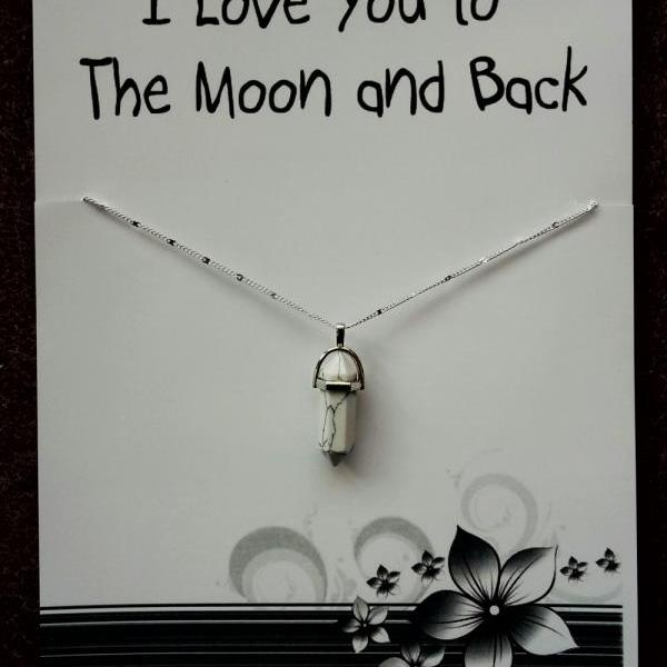 FREE SHIPPING I Love You to The Moon and Back Gift Valentine's Day Woman Pendant Engagement Necklace
